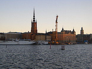 early morning view of Gamla Stan