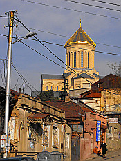 up to Tsminda Sameba Cathedral