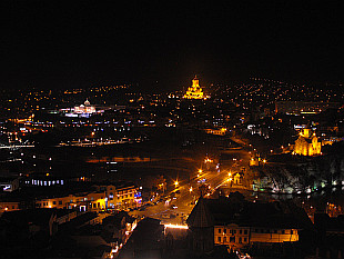 night Tbilisi seen from Narikala Fortress