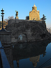 doubled Metekhi church
