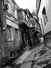 in alleys of the Old Town