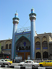 colorful mosque in central Tehran