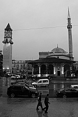 Clock Tower and Ethem Bey Mosque