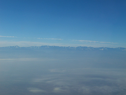 Atlas Mountains shortly before landing in Marrakech