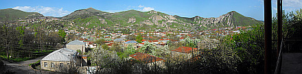 panorama of Goris from Khachik B&B terrace