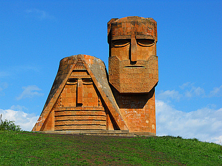 Papik u Tatik (We Are Our Mountains) Monument near Stepanakert