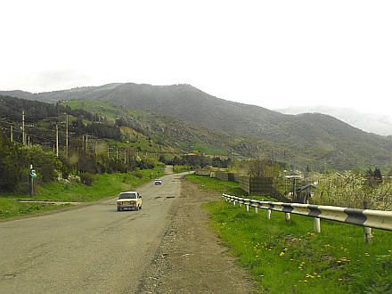 on the road to Dilijan
