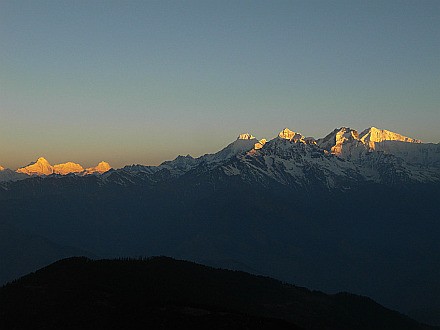 morning wonder - Himal Chuli 7893m, Ngadi Chuli 7570m, Manaslu 8163m and Ganesh Himal Range 7422m