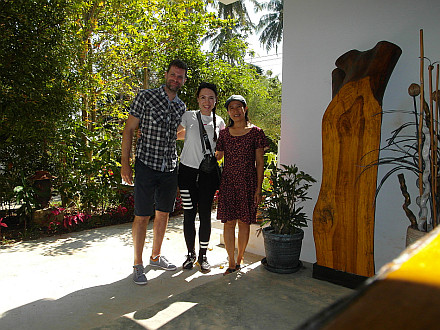ourselves with the guesthouse owner