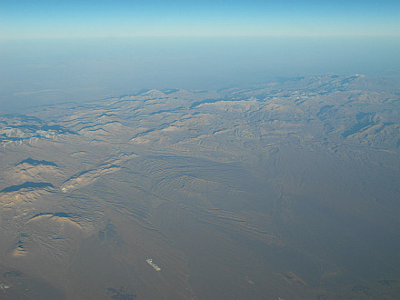 flying back to Europe... above Iran
