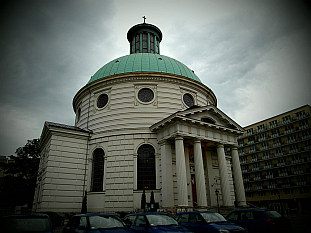 a rounded church