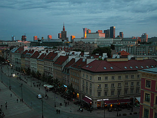 Warsaw skyline by dusk