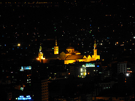 Ummayad Mosque seen from Mount Qasioun