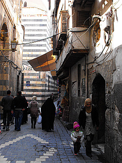 in lanes of the Old Damascus