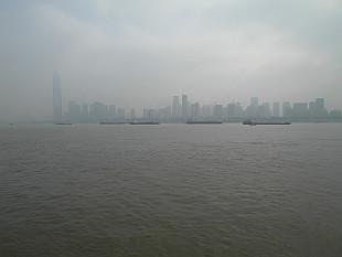 Wuchang, part of Wuhan behind the Long River (长江)