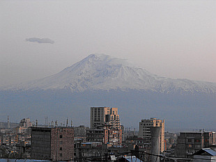 Mount Ararat (5165m) rising above Yerevan