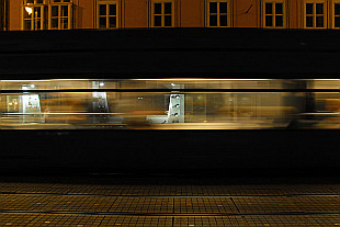 tram passing by...