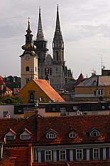 spires of Zagreb